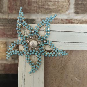 Coastal theme picture frame with starfish